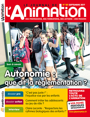 Le Journal de l'Animation 181 - septembre 2017